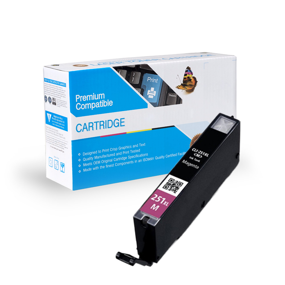 Canon 6450B001 (CLI-251XL) Compatible Magenta Ink Cartridge