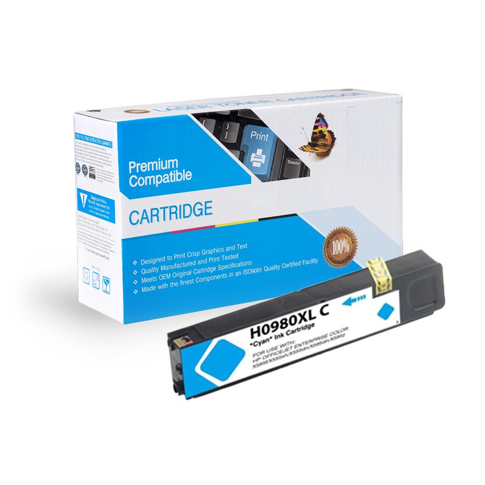 HP Compatible  980 Cyan, D8J07A