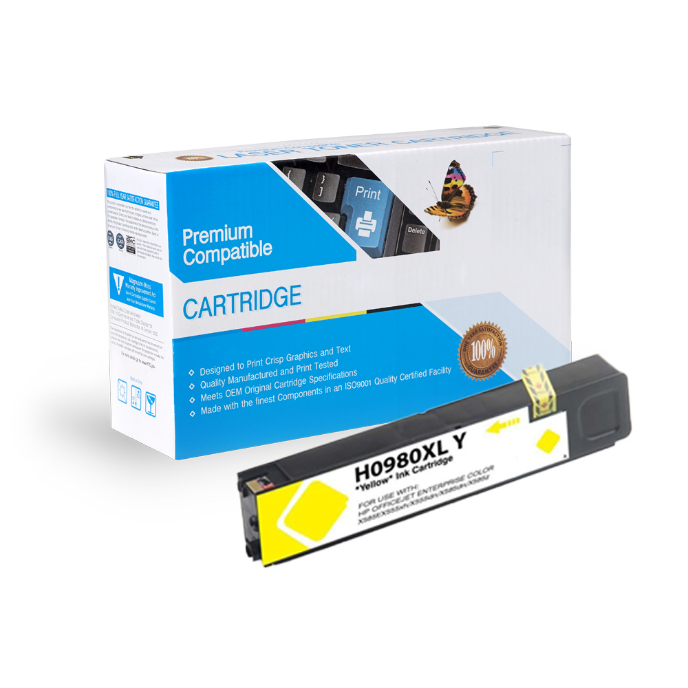 HP Compatible  980 Yellow, D8J09A
