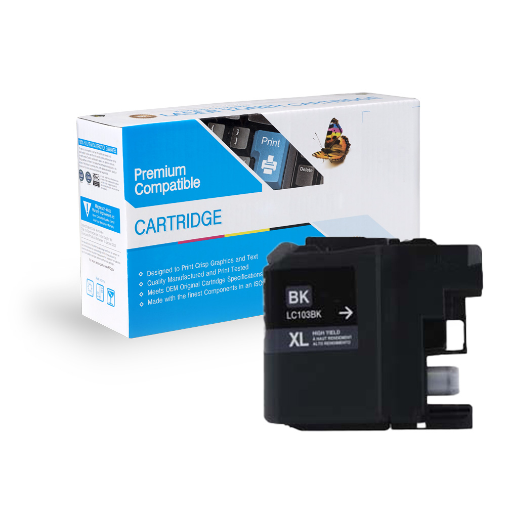 Brother LC103BK, LC101BK High Yield Black Inkjet Cartridge