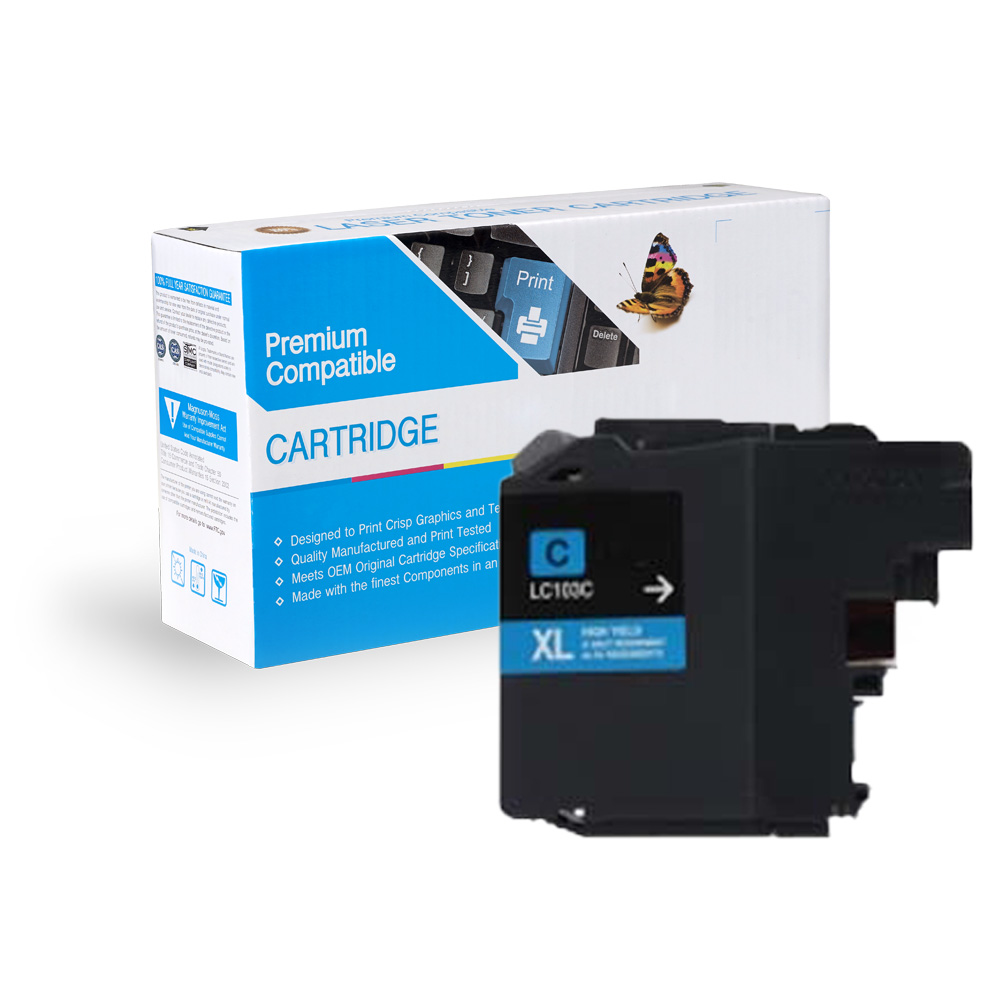Brother LC103C , LC101C Cyan Inkjet Cartridge