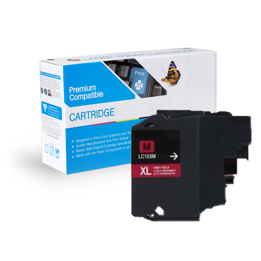 Brother LC103M, LC101M High Yield Magenta Inkjet Cartridge