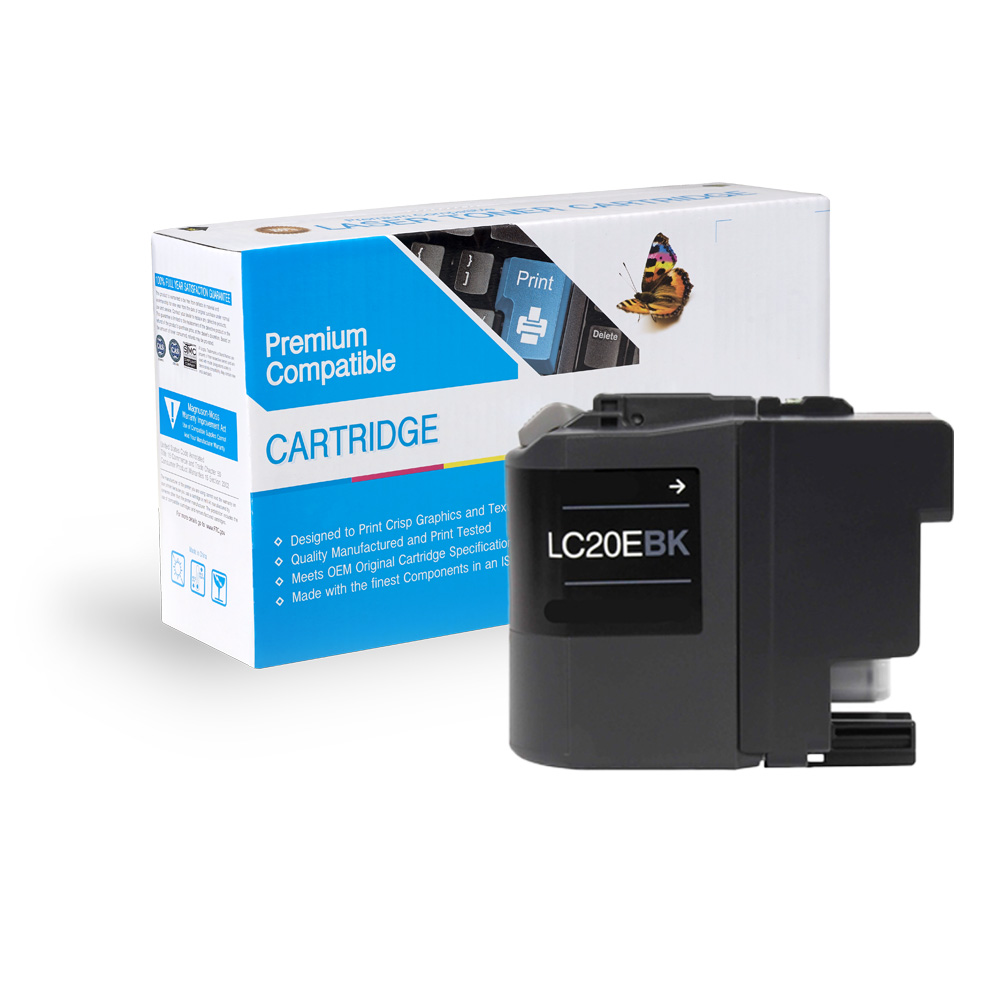 Brother LC20EBK Compatible Black High-Yield Ink Cartridge