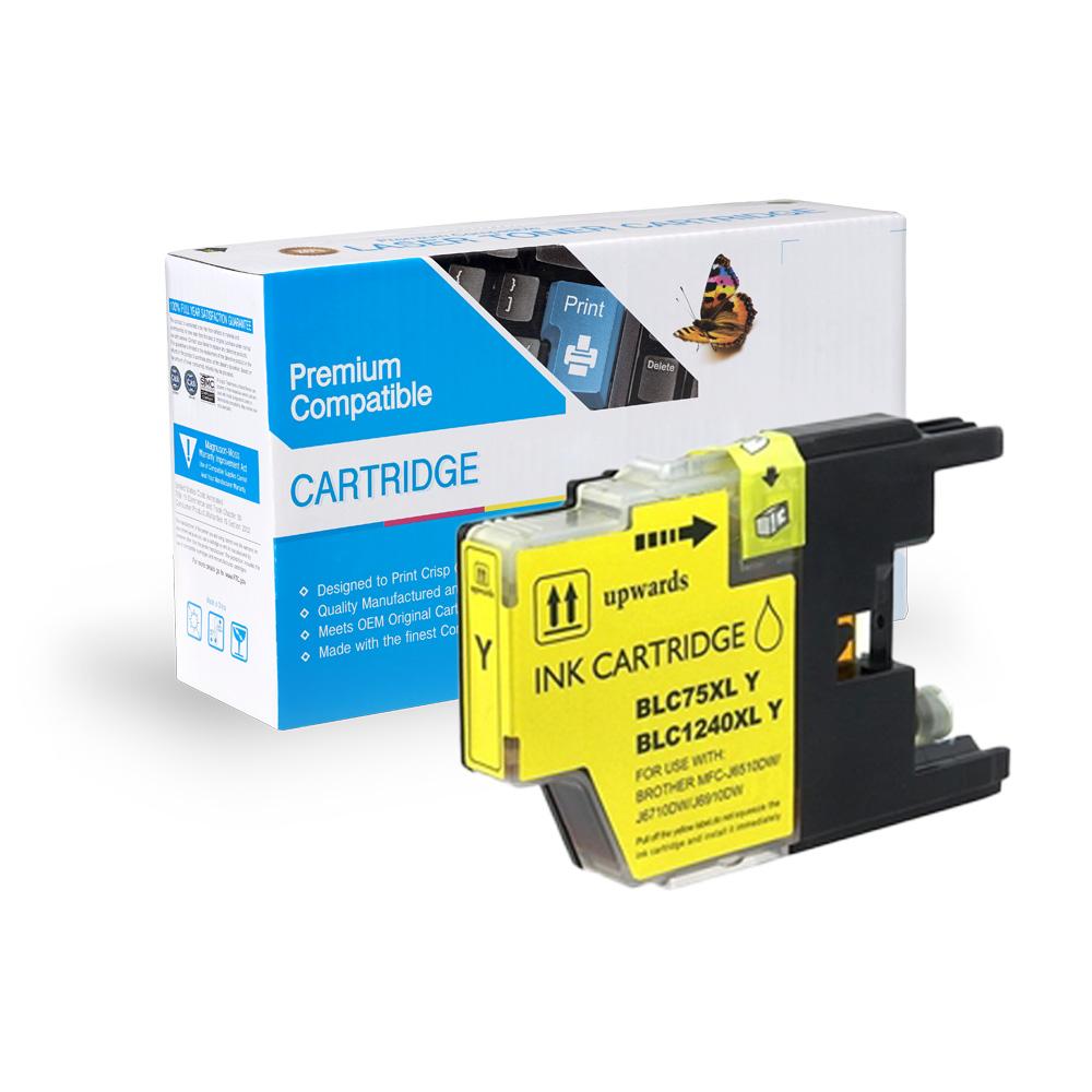 Brother LC75Y Yellow Inkjet Cartridge
