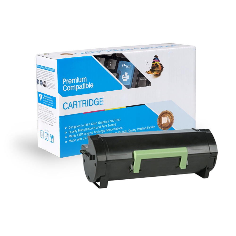 Black Toner Cartridge compatible with the Lexmark 60F1X00