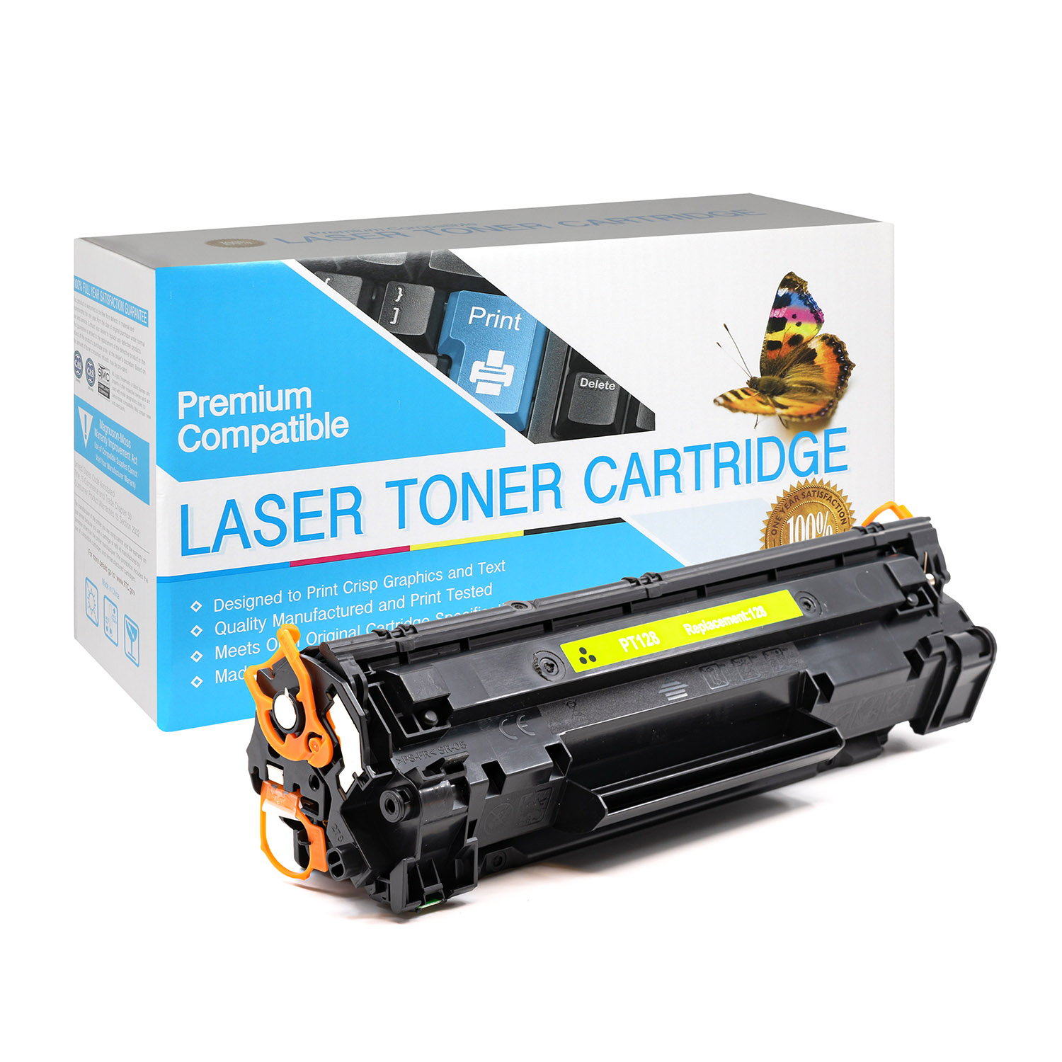 Canon 3500B001AA, CRG128 Black Laser Toner Cartridge