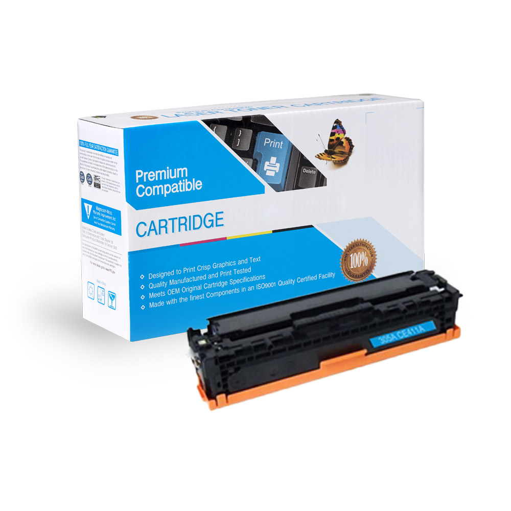 HP Remanufactured Toner CE411A, 305A