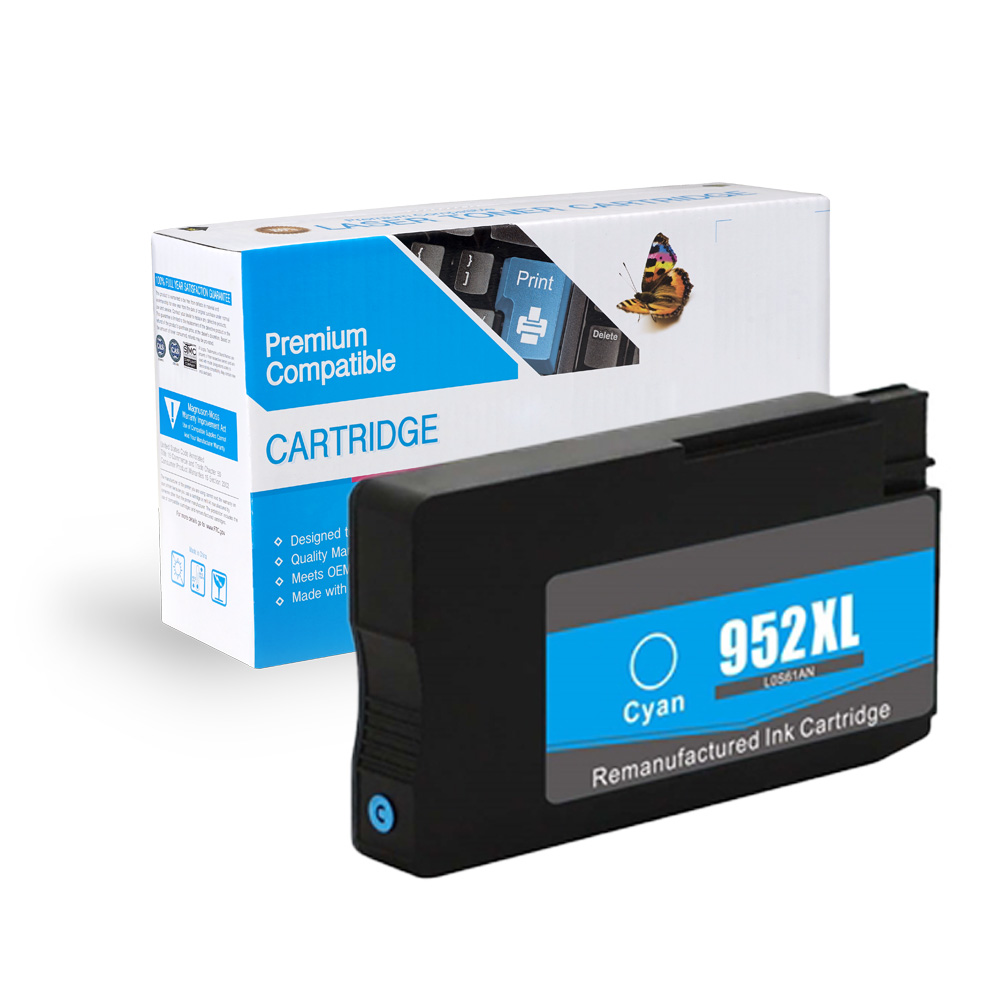 HP Remanufactured 952XL / L0S61AN Cyan Inkjet