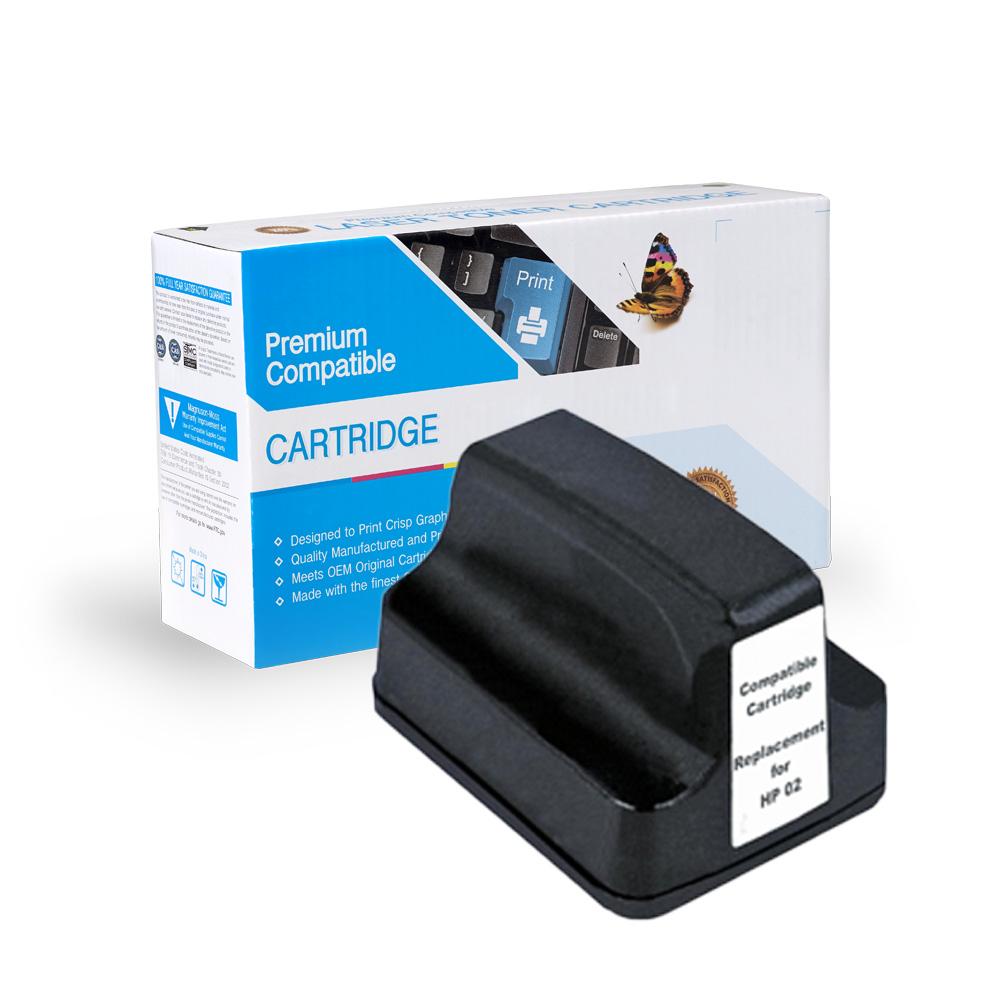 HP Remanufactured  C8721WN, HP 02 Black