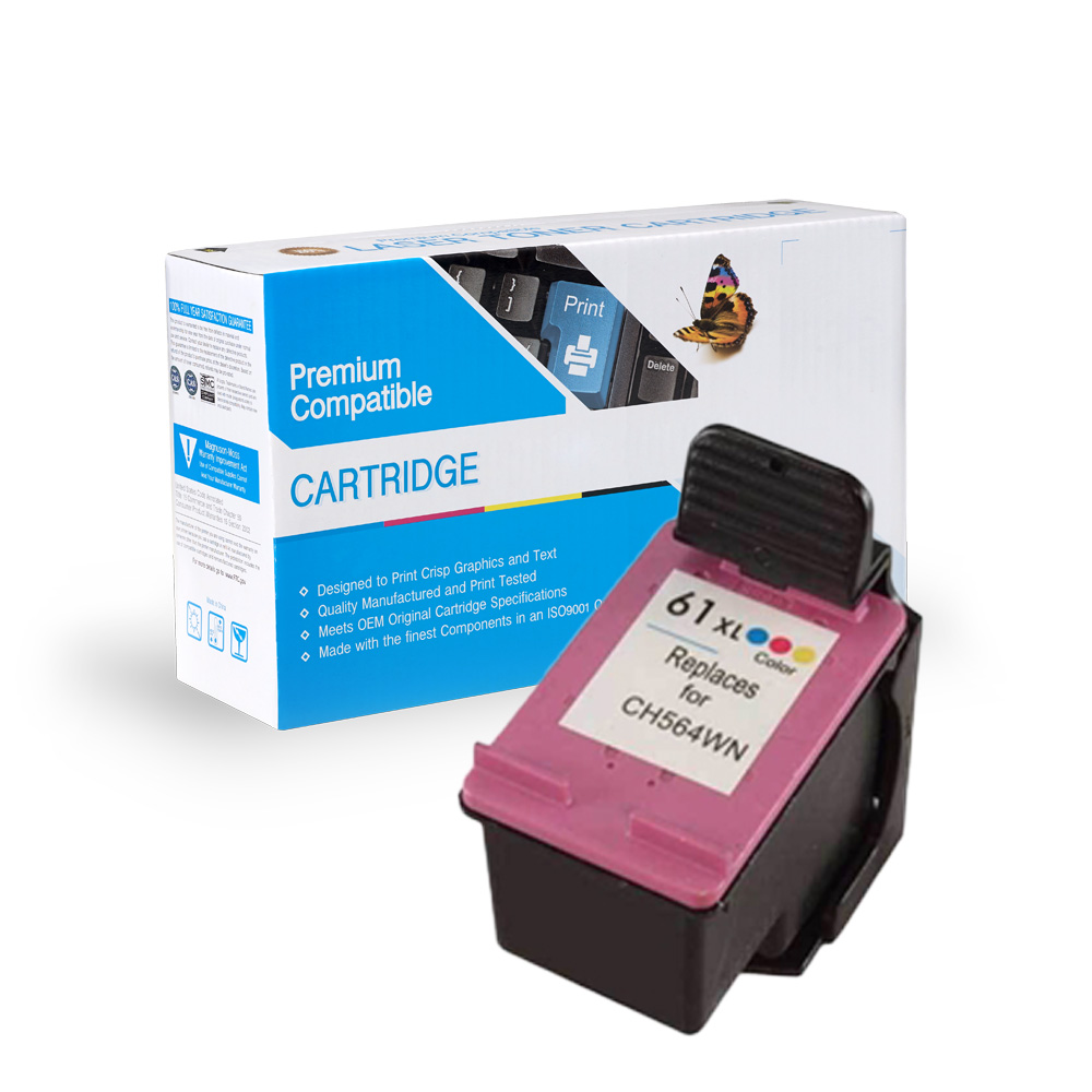 HP CH564WN (HP 61XL) Tri-Color Inkjet Cartridge
