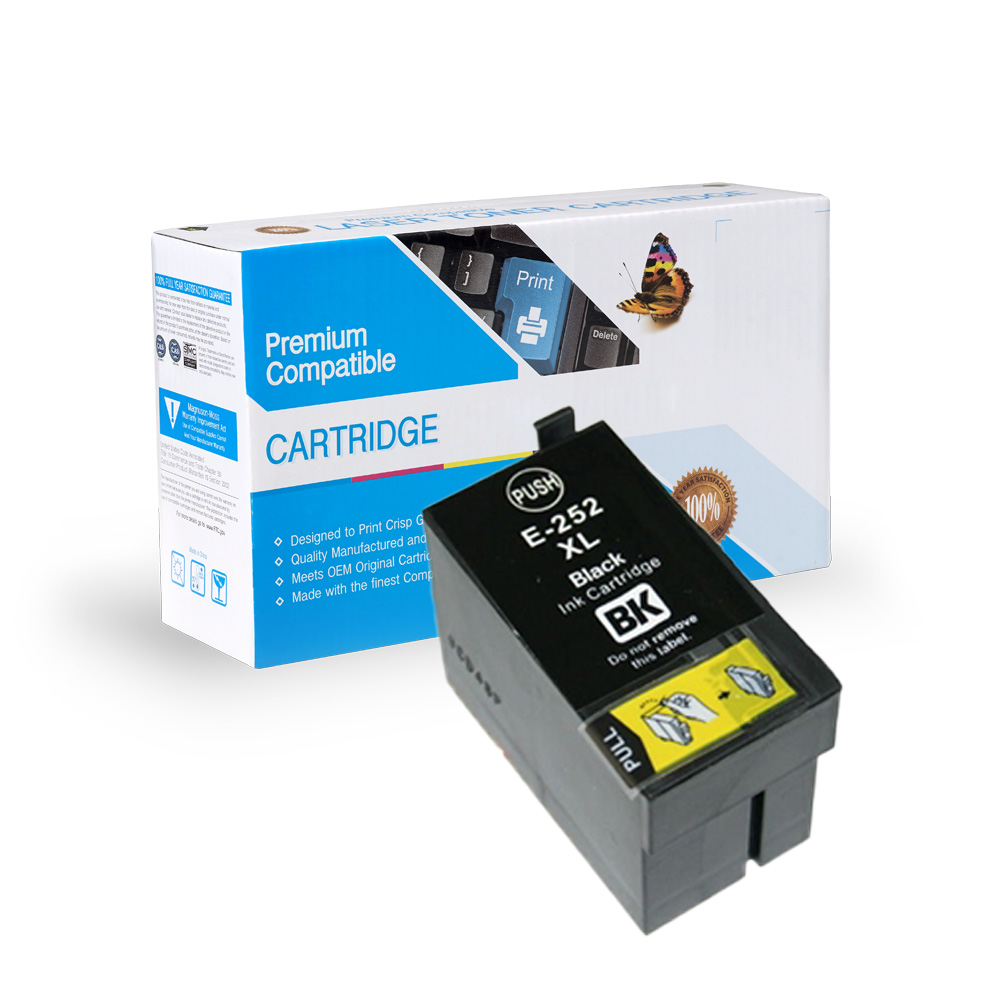 Epson 252XL (T252XL120) Remanufactured Black High-Yield Ink Cartridge