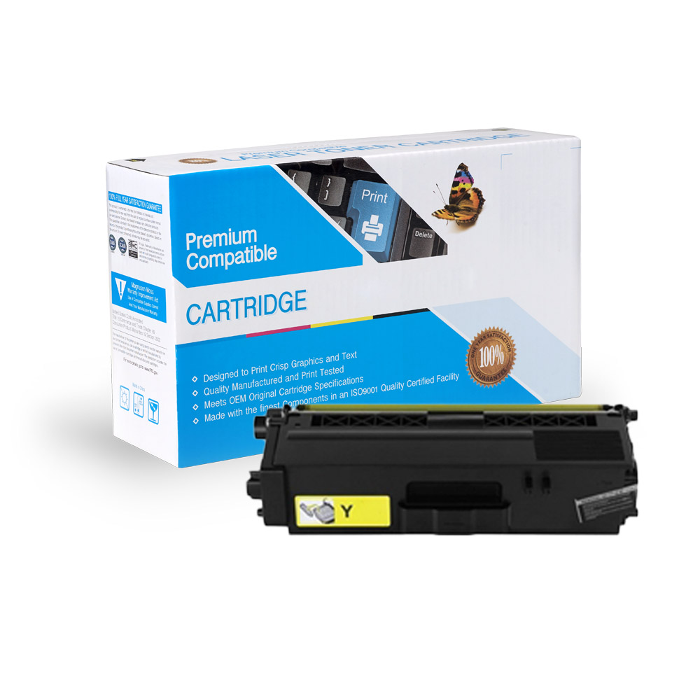 Brother TN336Y Compatible High Yield Yellow Toner Cartridge